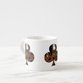 The Queen of Clubs Espresso Cup