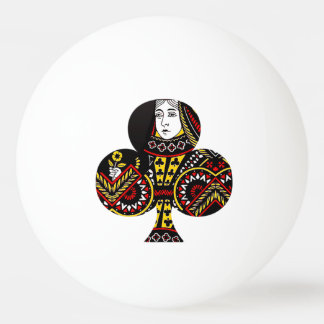 The Queen of Clubs Ping Pong Ball