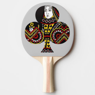 The Queen of Clubs Ping-Pong Paddle