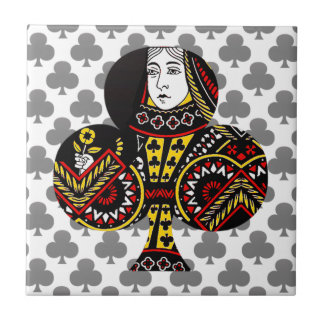 The Queen of Clubs Ceramic Tiles