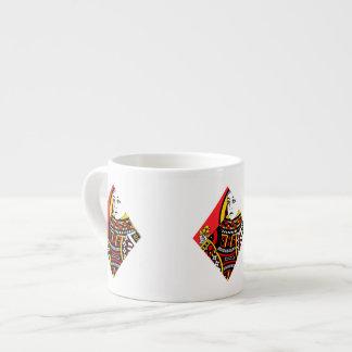 The Queen of Diamonds Espresso Cup