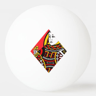 The Queen of Diamonds Ping-Pong Ball