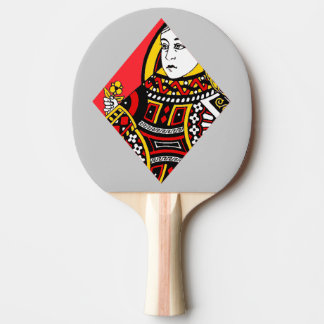 The Queen of Diamonds Ping Pong Paddle
