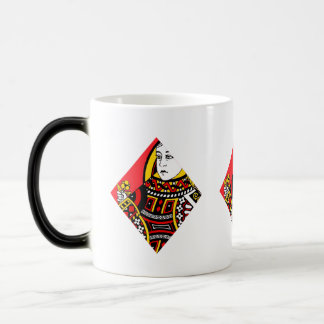 The Queen of Diamonds Magic Mug
