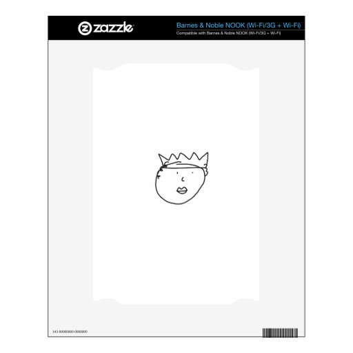 The Queen of England Drawing by Han Decal For NOOK