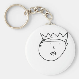 The Queen of England Drawing by Han Keychain