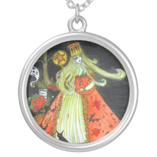 The Queen of Halloween Silver Plated Necklace