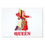 THE QUEEN OF HEARTS 4.5X6.25 PAPER INVITATION CARD
