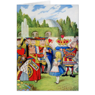 THE QUEEN OF HEARTS AND ALICE IN WONDERLAND CARD