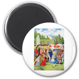 THE QUEEN OF HEARTS AND ALICE IN WONDERLAND MAGNET