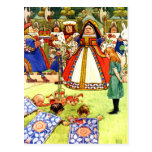 The Queen of Hearts and Alice in Wonderland Postcard