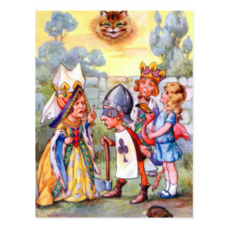THE QUEEN OF HEARTS AND THE EXECUTIONER POSTCARD