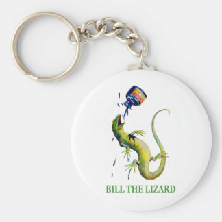 The Queen of Hearts attacks Bill the Lizard Basic Round Button Keychain