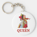 THE QUEEN OF HEARTS BASIC ROUND BUTTON KEYCHAIN