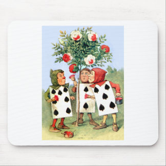 The Queen of Hearts' Cardmen Paint Her Roses Mouse Pads