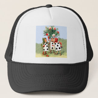 The Queen of Heart's Cardmen Paint Her Roses Red Trucker Hat