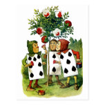 The Queen of Hearts Cardmen Painting Her Roses Postcard