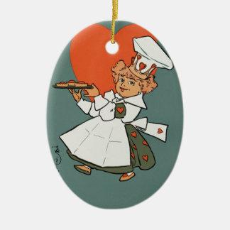The Queen Of Hearts Ceramic Ornament