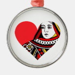 The Queen of Hearts Christmas Tree Ornaments