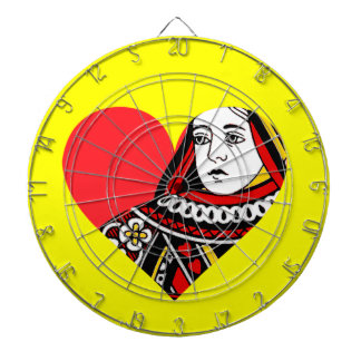 The Queen of Hearts Dartboard