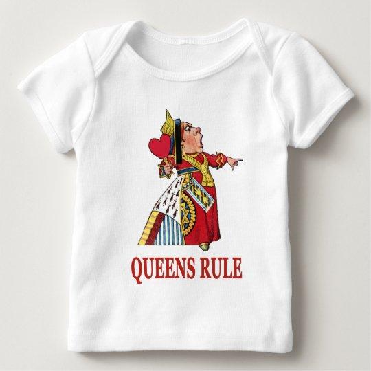 THE QUEEN OF HEARTS DECLARES QUEENS RULE BABY T-Shirt