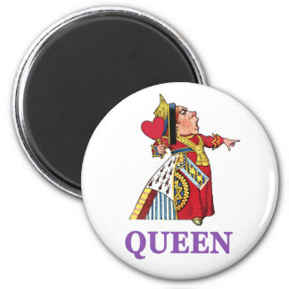 THE QUEEN OF HEARTS IS LARGE AND IN CHARGE 2 INCH ROUND MAGNET