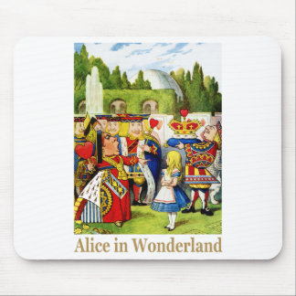 The Queen of Hearts meets Alice in Wonderland Mouse Pad