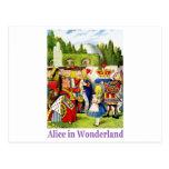 The Queen of Hearts meets Alice in Wonderland Postcard