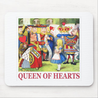 The Queen of Hearts Meets Alice Mouse Pad