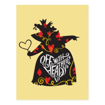 Disney Themed The Queen of Hearts | Off with Their Heads Postcard