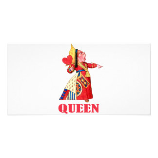 Queen Of Hearts Blank Card Template