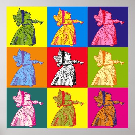 The Queen of Hearts Pop Art Poster