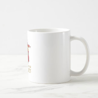 THE QUEEN OF HEARTS SAYS BECAUSE I AM THE QUEEN COFFEE MUG