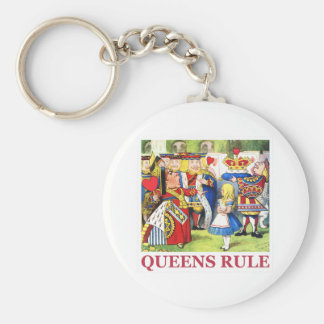 "The Queen of Hearts says, ""Queens Rule!"" Keychain"