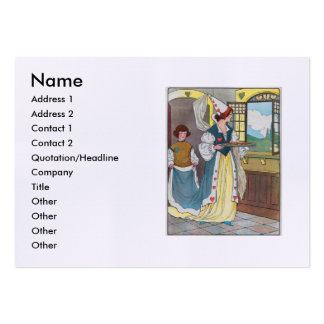 The Queen of Hearts, She made some tarts Large Business Cards (Pack Of 100)