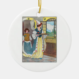 The Queen of Hearts, She made some tarts Ceramic Ornament