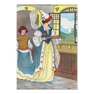 The Queen of Hearts, She made some tarts 5x7 Paper Invitation Card