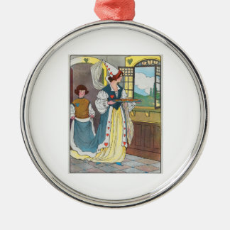 The Queen of Hearts, She made some tarts Metal Ornament