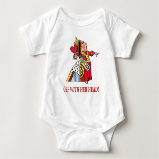 THE QUEEN OF HEARTS SHOUTS OFF WITH HER HEAD BABY BODYSUIT