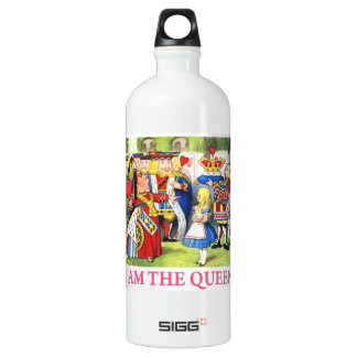 "The Queen of Hearts Tells Alice, ""I Am the Queen!"" Aluminum Water Bottle"