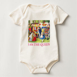 "The Queen of Hearts Tells Alice, ""I Am the Queen!"" Baby Bodysuit"