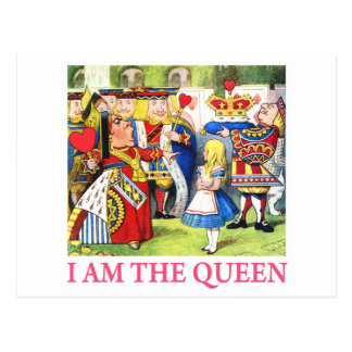 "The Queen of Hearts Tells Alice, ""I Am the Queen!"" Postcard"