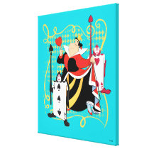 The Queen of Hearts | The Queen's Card Soldiers Canvas Print