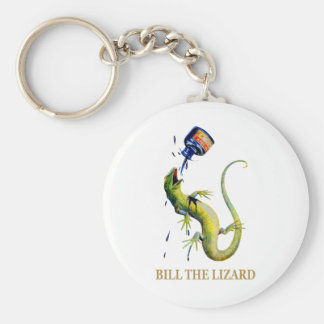 THE QUEEN OF HEARTS THROWS INK AT BILL THE LIZARD BASIC ROUND BUTTON KEYCHAIN