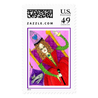 The Queen of Peculiarity Postage Stamps