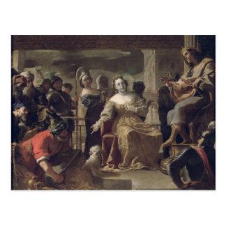 The Queen of Sheba before Solomon Postcard
