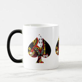 The Queen of Spades Magic Mug