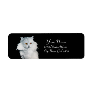 THE QUEEN OF WHITE CATS LABEL