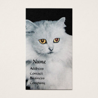 THE QUEEN OF WHITE CATS MONOGRAM BUSINESS CARD