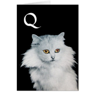 THE QUEEN OF WHITE CATS, MONOGRAM CARD